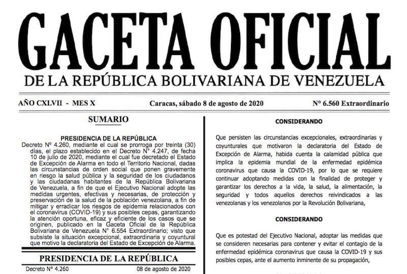 GACETA OFICIAL EXTRAORDINARIO Nº 6560