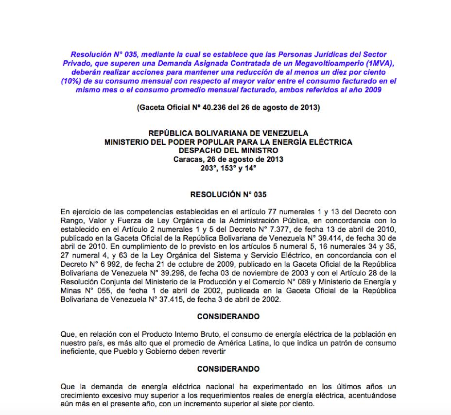 GACETA OFICIAL Nº 40236 - CORPOELEC