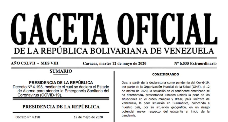 GACETA OFICIAL EXTRAORDINARIO Nº 6535