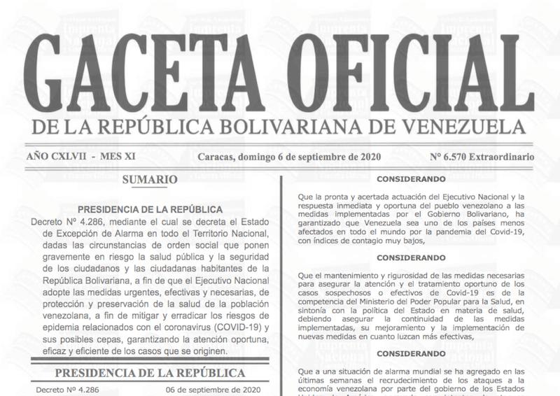 GACETA OFICIAL EXTRAORDINARIO Nº 6570