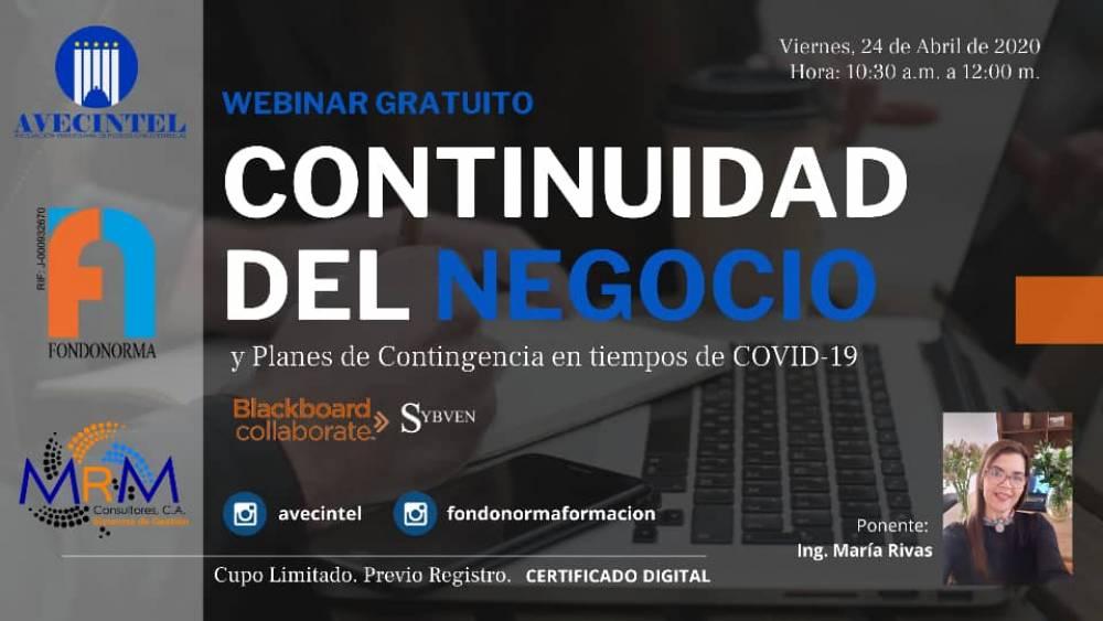 CONTINUIDAD DEL NEGOCIO Y PLANES DE CONTINGENCIA EN TIEMPOS DE LA COVID-19